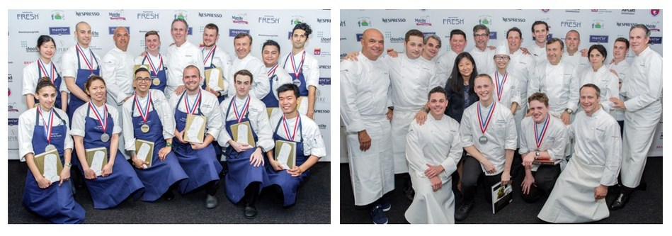 L: 2016 Young Chef Competition Candidates, R: 2016 Commis Competition Candidates