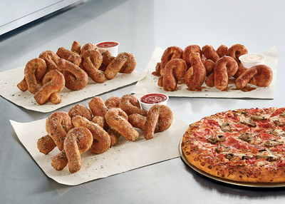 Bread Twists come in three flavors – Parmesan, Garlic or Cinnamon – and make the perfect complement to any pizza.