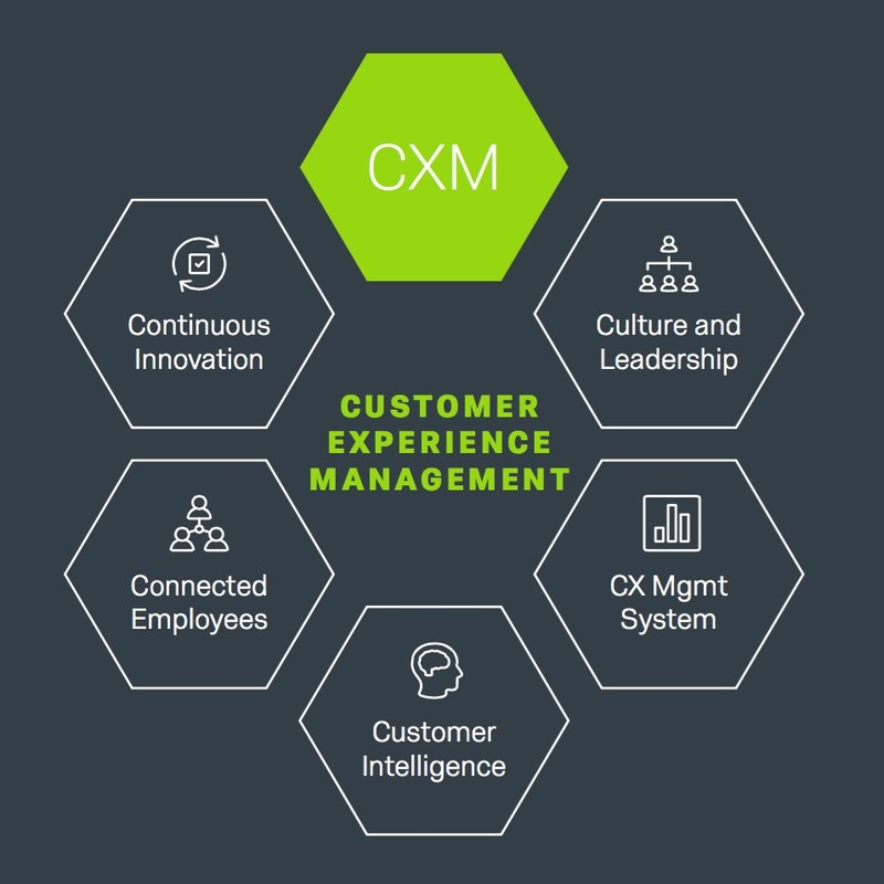Qualtrics Customer Experience Management includes the Five Competencies of CX Success, Qualtrics' proven methodology for CX programs.