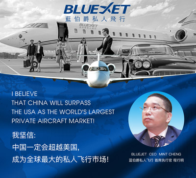 Leading China-based private flight services provider Bluejet comes to Times Square, advocating for shared access to privately-owned aircraft across China