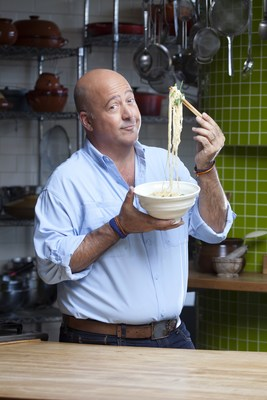 KitchenAid and award-winning TV personality and chef Andrew Zimmern team up for the first ever Make-Along at the FOOD & WINE Classic in Aspen. Photo credit Steve Henke.