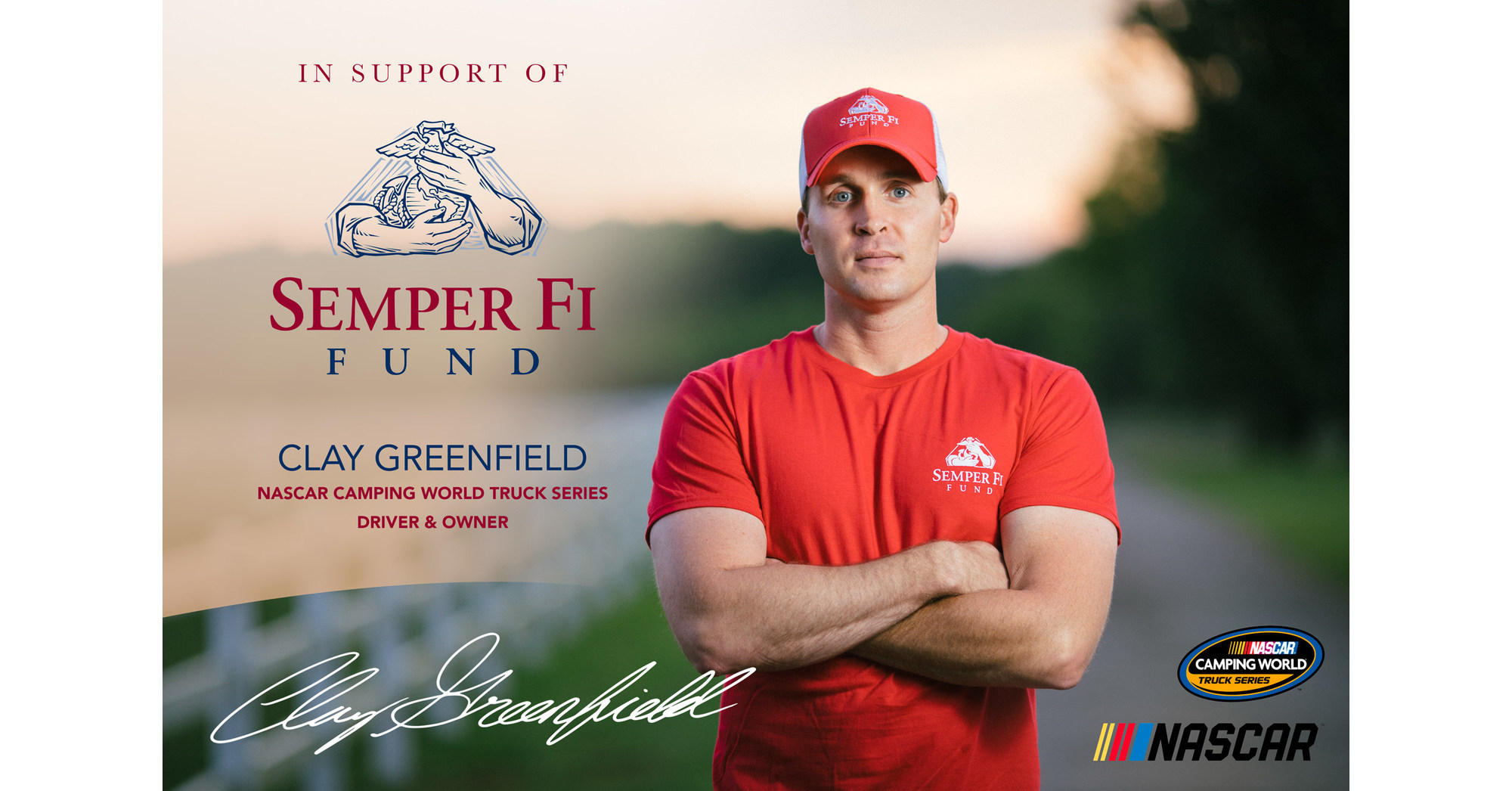 Clay greenfield races for semper fi fund this weekend in for Semper fi fund rating