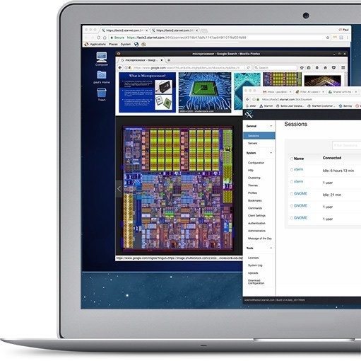 FastX 2.4 allows engineers to use their PC Web browser to design ICs on remote Linux servers