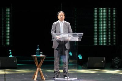 Yu Jun, président de GAC Motor lors du sommet Movin'On (PRNewsfoto/GAC Motor)