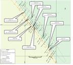 Figure 1 : Carte des trous de forage et principaux résultats d'analyse de 2017 de Saramacca (Groupe CNW/IAMGOLD Corporation)