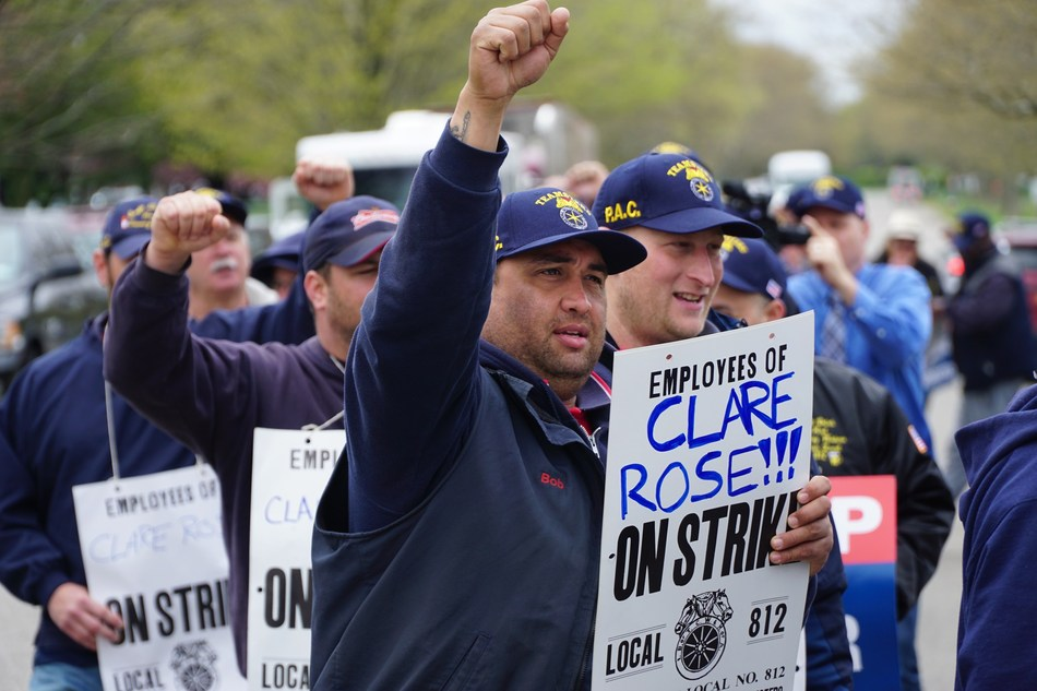Teamsters Local Union 812 members on Strike against Anheuser-Busch distributor Clare Rose in New York.