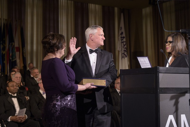 Mercy's Dr. David Barbe is inaugurated as president of the American Medical Association.