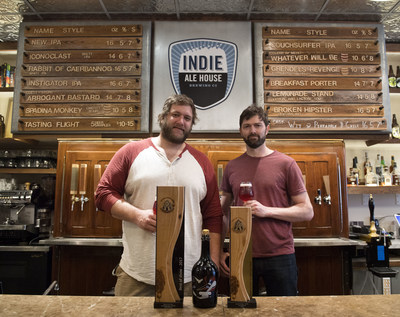 Head Brewer Jeff Broeders (left) and Barrel Aged and Funkworks Beer Program Director Nick Bobas (right). (CNW Group/Indie Alehouse)