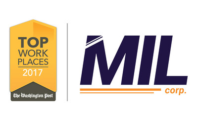 The MIL Corporation has been awarded a 2017 Top Workplaces honor by The Washington Post.