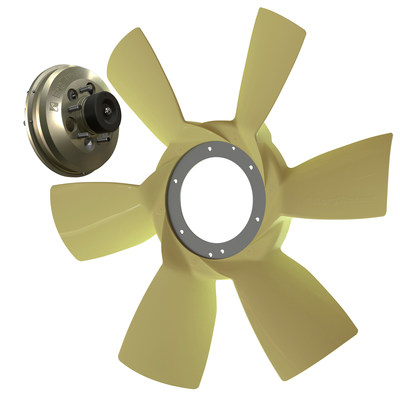 BorgWarner launched its high-efficiency 6-blade fan with its proven on/off fan drive as a sole supplier for Freightliner's new Cascadia truck model.