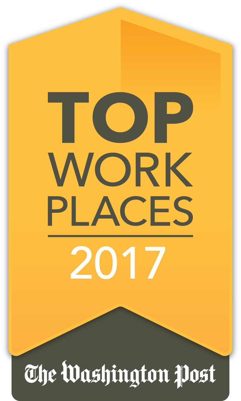 CapTech is honored to be recognized as a 2017 Washington Post Top Workplace.