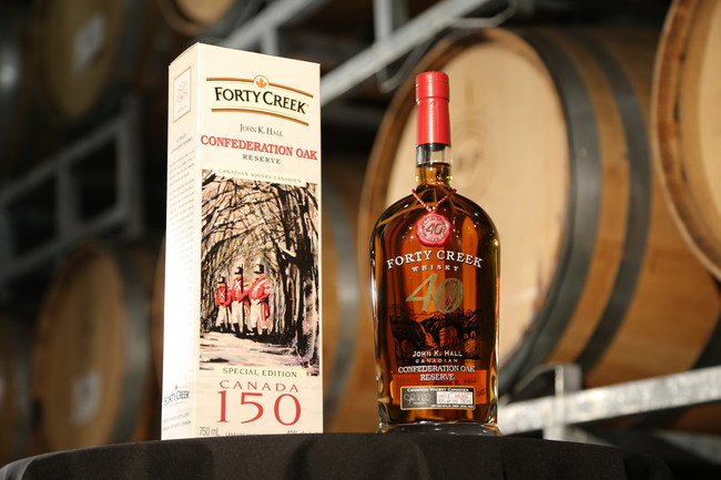 Special Canada 150, limited-edition packaging of Forty Creek Confederation Oak. Image rights courtesy of Forty Creek Whisky (CNW Group/Forty Creek Whisky)