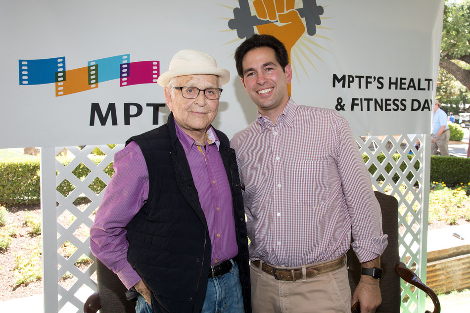 Norman Lear pictured with MPTF's Chief Innovation Officer Scott Kaiser, M.D. Photo by Craig Mathew, Mathew Imaging