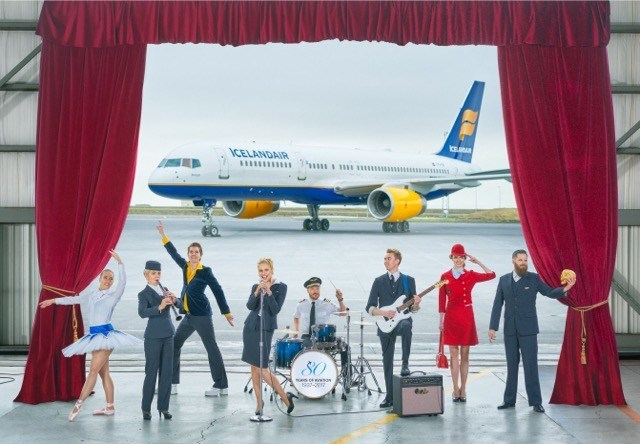 Prepare for a Flying Ovation. Icelandair launches Stopover Pass, a pioneering new service, granting passnegers access to a range of performances starring Icelandair staff and Icelandic talent for free. Icelandair.com (PRNewsfoto/Icelandair)
