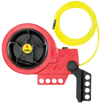 Master Lock's new, highly versatile Retractable Cable Lockout Devices allow employees to address challenging lockout situations, including gate valve and electrical applications. Available to ship now in two models: S866 (shown) for electrical lockout applications and S856 for general lockout applications.
