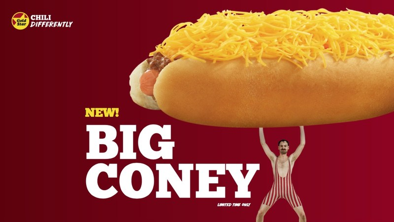 Introducing Gold Star Chili's New Big Coney.  At $4.59 it's a Big Deal and Pure Cincinnati.