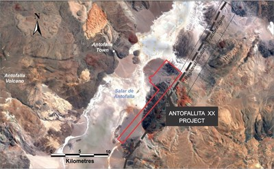 Figure 2: Antofallita XX location in central sector of Antofalla Salar (CNW Group/Advantage Lithium Corp)