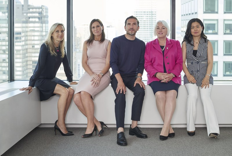 Travelzoo's board of directors: Beatrice Tarka, Rachel Barnett, Ralph Bartel, Mary Reilly, Carrie Liu.