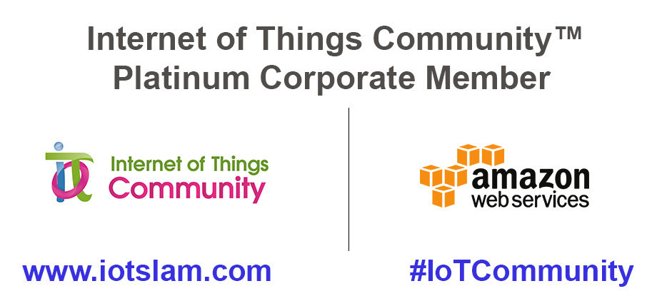 AWS Recognized as Internet of Things Community Elite Platinum Member (PRNewsfoto/The Internet of Things Community)