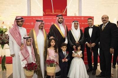 Yaqoub Al Sharif Al Hashemi, His Royal Highness Prince Mohammed bin Faisal bin Mohammed bin Abdulaziz Al Saud, French Ambassador François Gouyette (PRNewsfoto/The Paris Gallery Group)