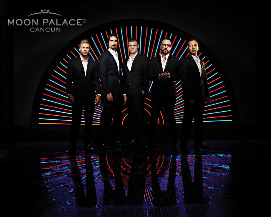 """Their first international show since their Las Vegas residency, """"Backstreet Boys: Larger Than Life"""" will close out 2017 with Palace Resorts at Cancun's entertainment destination, Moon Palace Cancun, this December."""