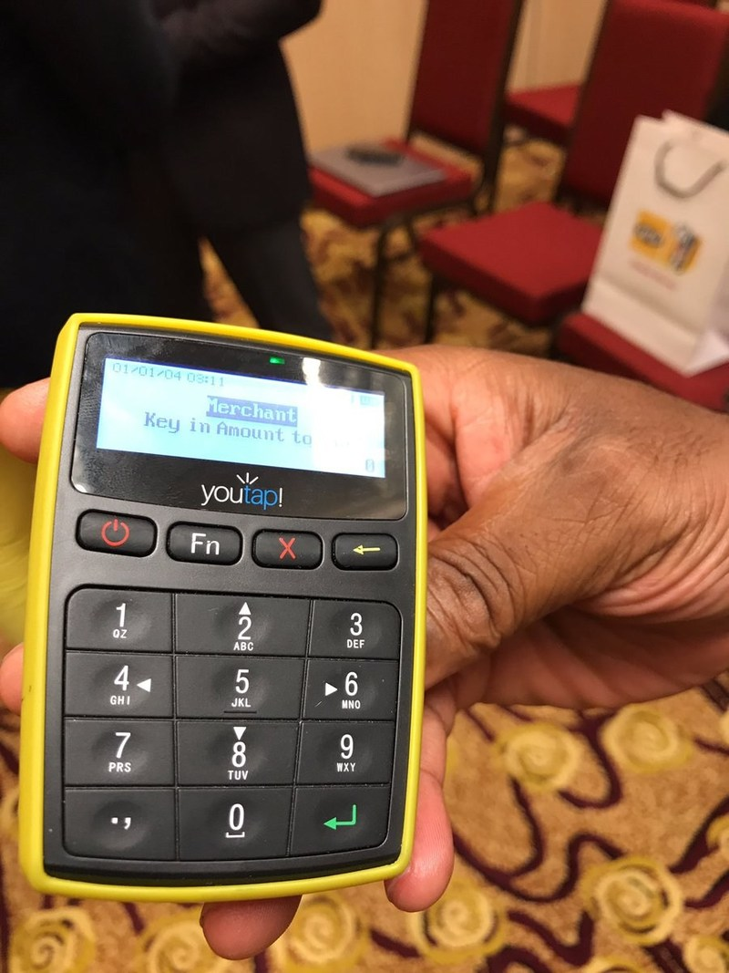 Youtap's portable new X8 device enables mobile money merchant payments instantly.