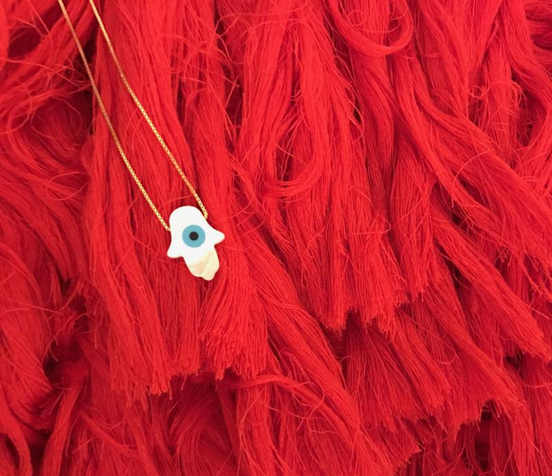 Saridjo Fatima Evil Eye necklace