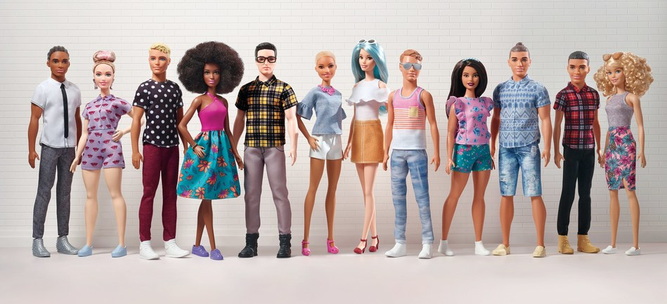 Today, Barbie® announced the expansion of its Fashionistas® line with 15 new modernized and diverse Ken® dolls, featuring three body types – slim, broad and original – seven skin tones, eight hair colors, nine hairstyles and on-trend fashions. These Ken dolls join the 100+ diverse looks launched in the Barbie Fashionistas line in the last three years, making it the most diverse fashion doll line in the marketplace. The new Fashionistas launch at retailers nationwide and on www.Barbie.com.