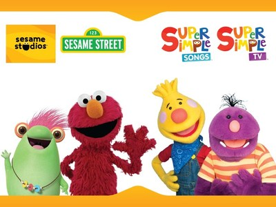 Skyship Entertainment, creators of the popular YouTube channels Super Simple Songs and Super Simple TV, is teaming up with the nonprofit educational organization Sesame Workshop via its Sesame Studios and Sesame Street YouTube channels. The cross promotion initiative will appear exclusively on YouTube between June 19th to July 2nd. (CNW Group/Skyship Entertainment)