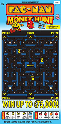 Minnesota Lottery $5 PAC-MAN® Money Hunt Instant Ticket (CNW Group/Pollard Banknote Limited)