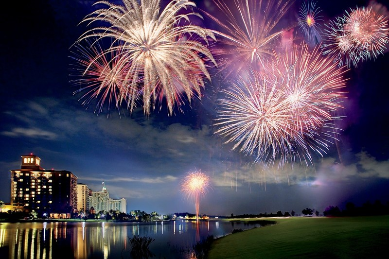 Fireworks at The Ritz-Carlton Orlando, Grande Lakes