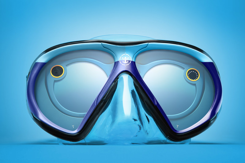 """From June 21 to June 25, Royal Caribbean's Snapchat channel will immerse viewers in a one of-a-kind underwater adventure thanks to a custom-designed scuba mask dubbed """"SeaSeekers."""" The mask was custom engineered by the cruise line for use with Snapchat Spectacles. It allows the wearer to snap while underwater and will give those above the surface a unique perspective into the intriguing underwater world of marine life. Fans can #SeekDeeper by following @RoyalCaribbean on Snapchat."""