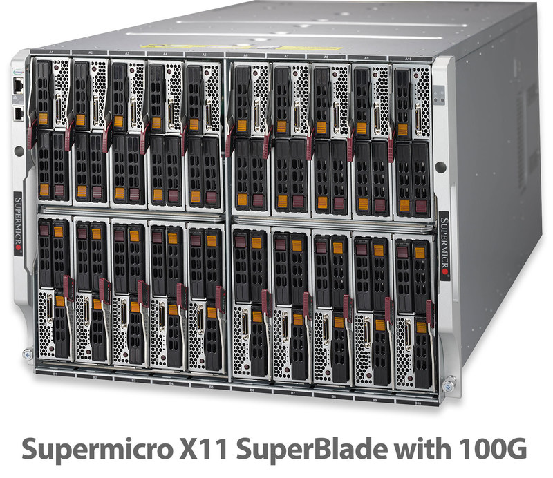 Supermicro introduces 100G Networking in new X11 based SuperBlade™