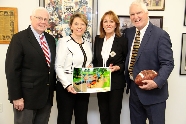 Pictured in photo left to right: Fritz Heinemann, President, Andy Russell Charitable Foundation, Central Region; Annette Camuso-Sarsfield, Cindy Russell, Andy Russell
