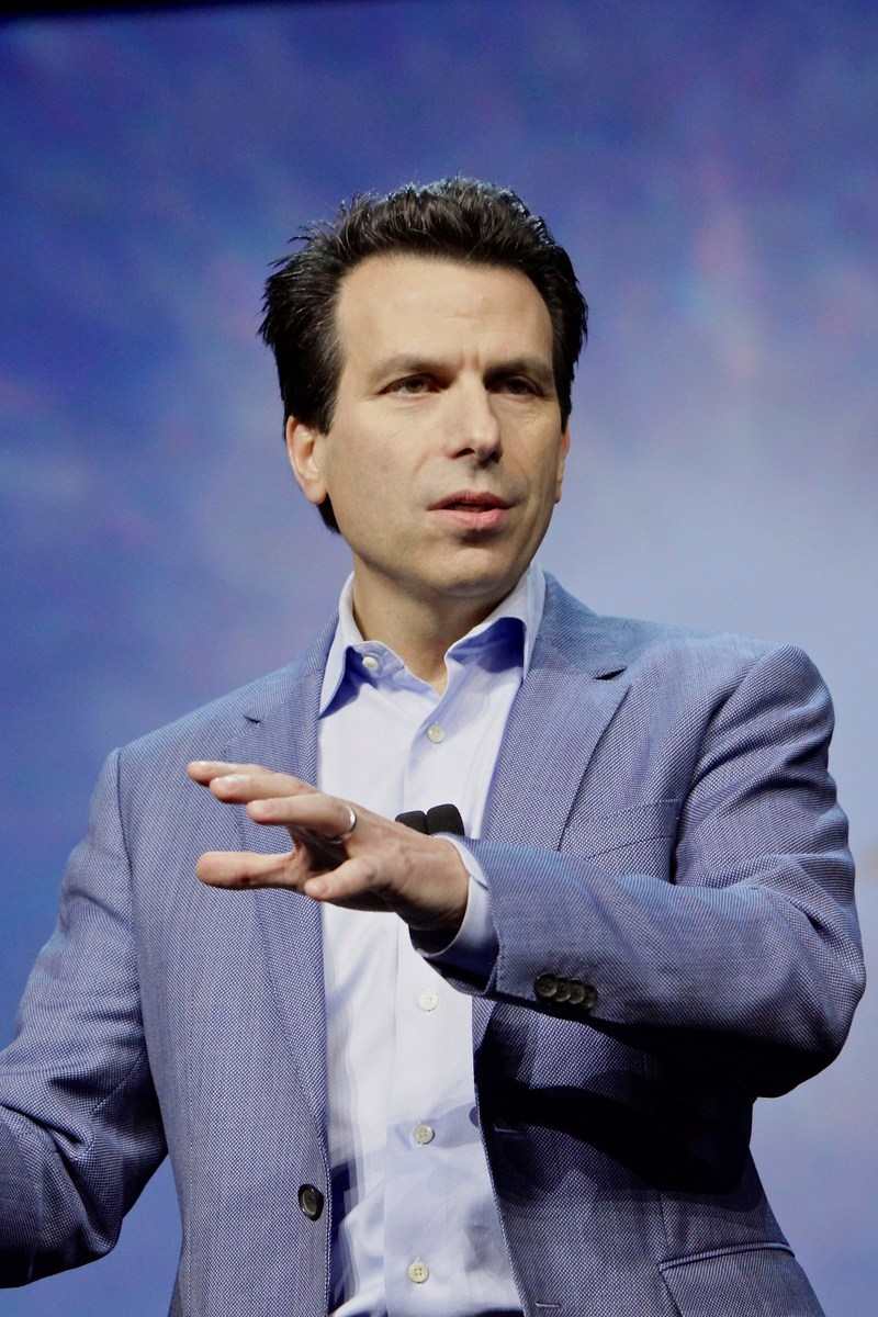 Anagnost delivering his keynote address at Autodesk University 2016.