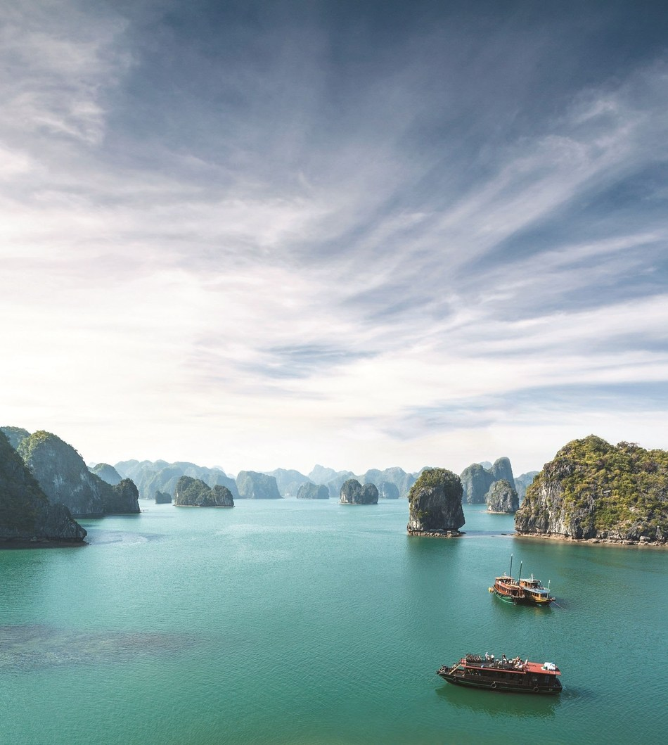 Seabourn announces new luxury cruise itineraries for fall 2018 and winter 2019 seasons. The new program features 37 unique sailings to hidden harbors and must see cities around the world, including Halong Bay in Vietnam (pictured).