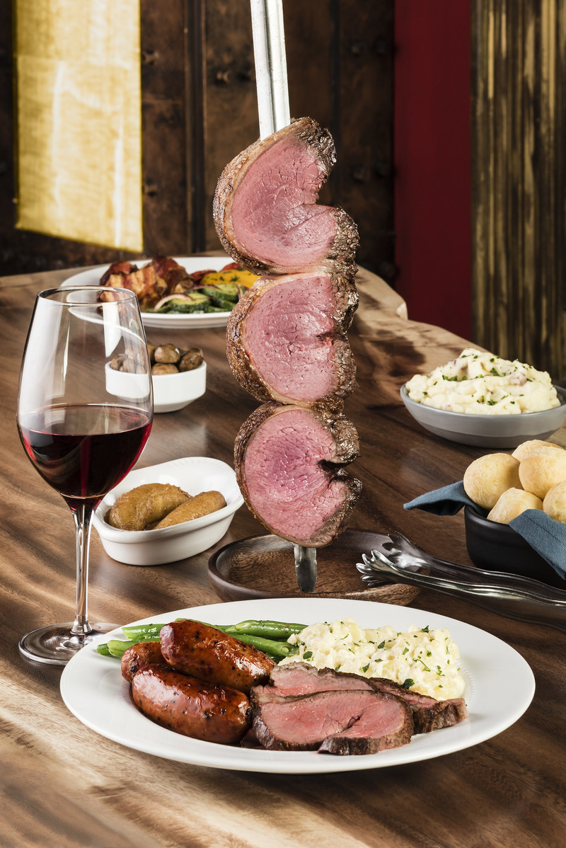 Texas de Brazil's new location in Lexington, Kentucky offers an upscale, continuous dining experience where guests enjoy authentic churrasco-style grilled meats served by costumed Gauchos plus a 50-item salad area, award-winning wine list and more.