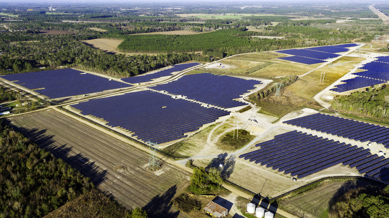 ​This photo represents a previous project completed by the Green Power EMC and Silicon Ranch​ partnership.​​ The 20MWac solar facility in Hazlehurst, Georgia, occupies approximately 135 acres and incorporates 87,514 solar modules.