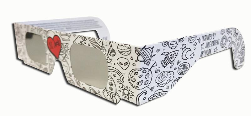 Memphis company manufactures exclusive St. Jude solar eclipse glasses.