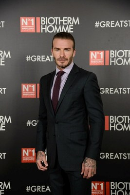 In Madrid, David Beckham and Biotherm Homme launched new Aquapower #GreatStart digital campaign (PRNewsfoto/Biotherm Homme)