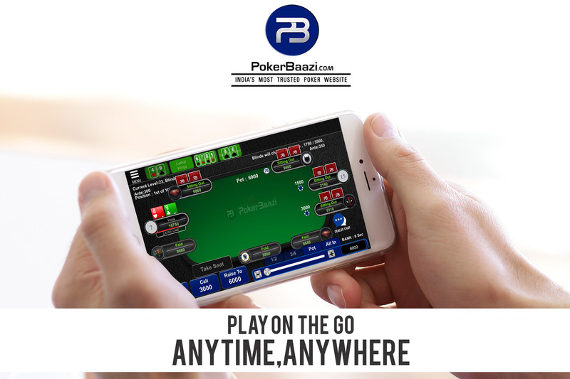Play anytime & anywhere (PRNewsfoto/PokerBaazi.com)