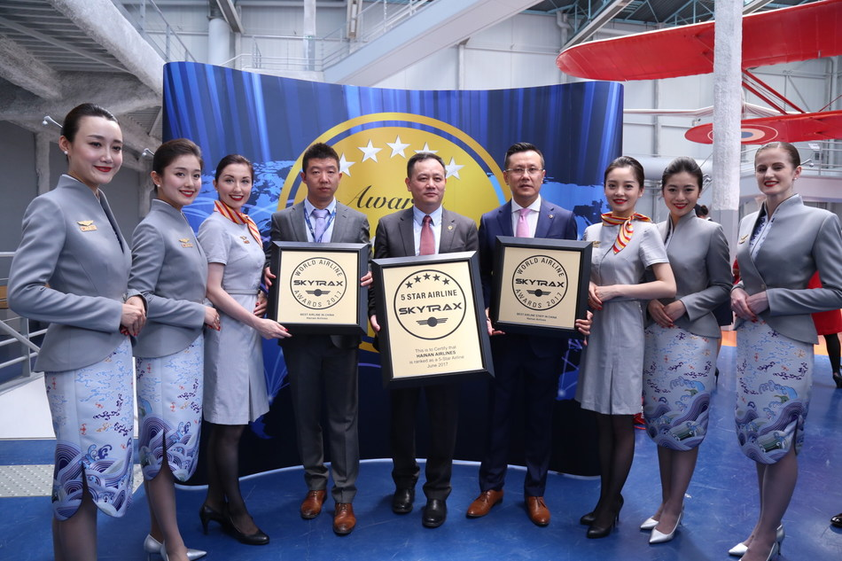 Hainan Airline was also Honored with Best China Airline and the Best China Airline Staff Service award