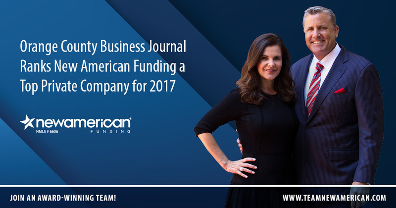 Orange County Business Journal Ranks New American Funding a Top Private Company for 2017