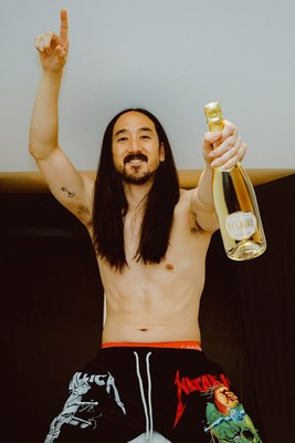 Luc Belaire, the world's fastest-growing brand of premium French sparkling wine, enlists Grammy-nominated DJ Steve Aoki as Official Brand Ambassador for the launch of Luc Belaire Gold, a stunning new cuvée crafted in the heart of Burgundy, France from handpicked Chardonnay and Pinot Noir grapes. (PRNewsfoto/Luc Belaire)