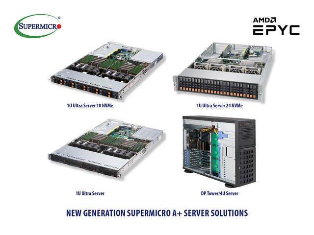 Nova geração de soluções A+ Server da Supermicro suporta os novos processadores EPYC da AMD