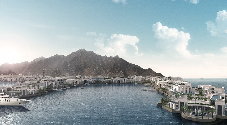 Rendering of Mina Sultan Qaboos Waterfront following its re-development (PRNewsfoto/DAMAC Properties)
