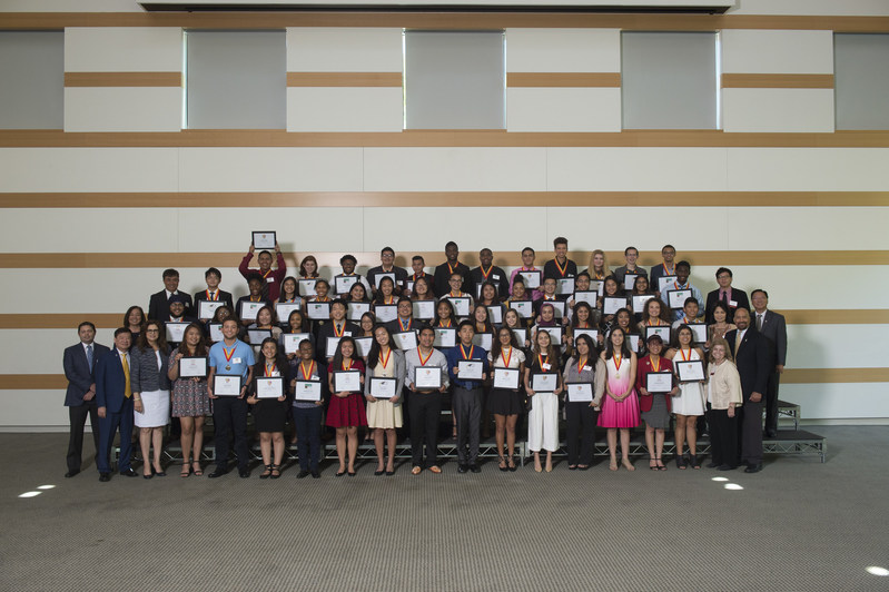 2017 Ronald McDonald House Charities of Southern California (RMHCSC) Scholarship recipients pictured with RMHCSC CEO Vince Bryson and Southern California McDonald's owner/operators at the RMHCSC Scholarship Luncheon on Saturday, June 17 at Skirball Cultural Center in Los Angeles