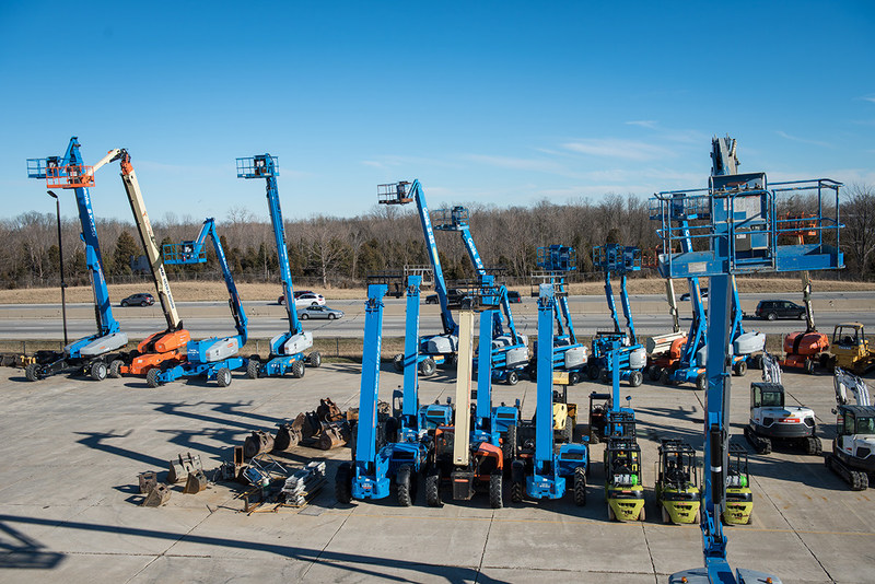 Genie Boom Lifts for rent at Vandalia Rental in Vandalia, Ohio.