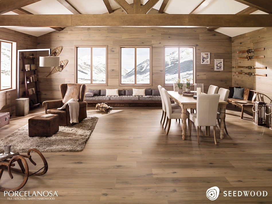 Porcelanosa Seedwood Collection - Nebraska Coffee