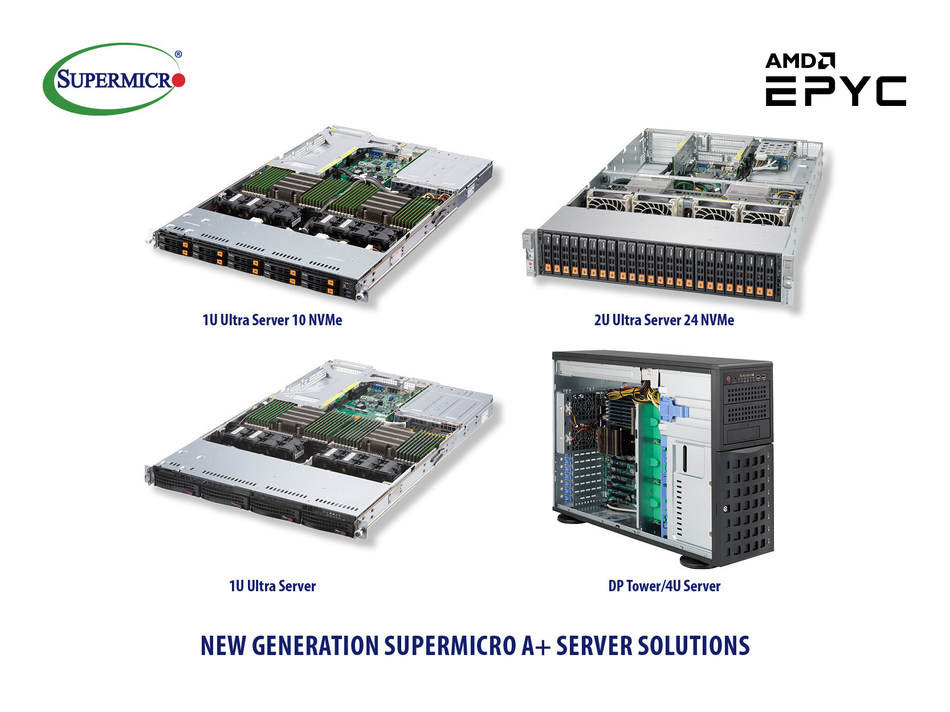 New Generation of Supermicro A+ Server Solutions Support New AMD EPYC Processors (PRNewsfoto/Super Micro Computer, Inc.)